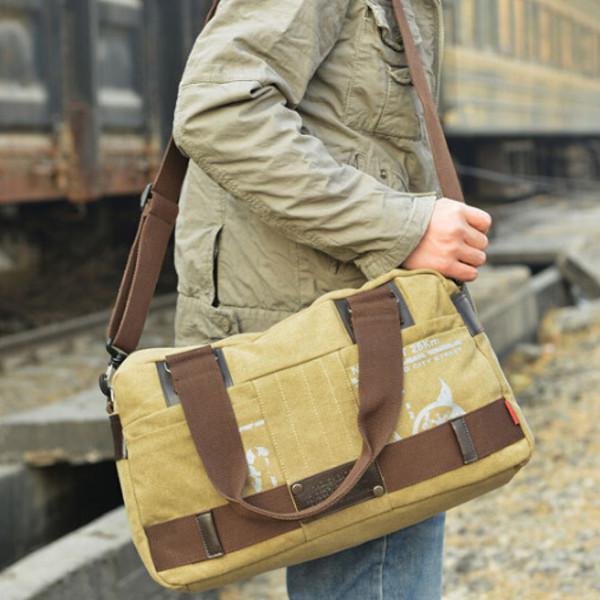 Mens fashion leisure canvas bag shoulder bag business