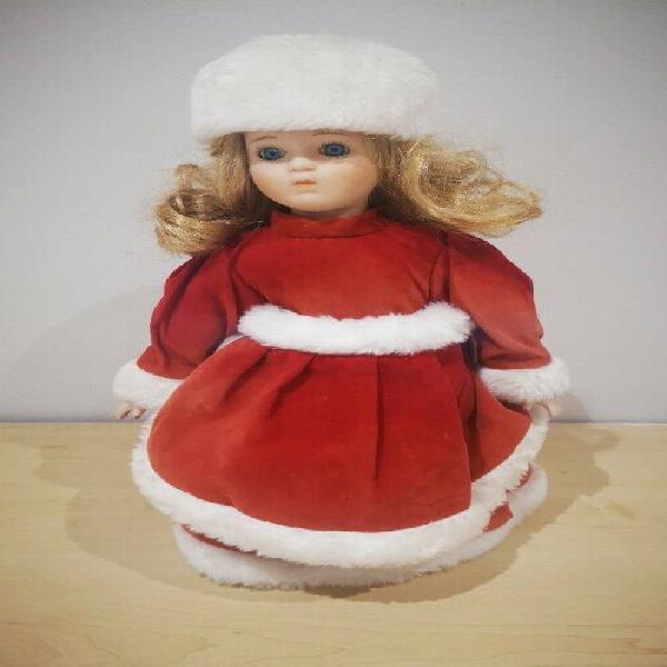 Porcelain doll - christmas