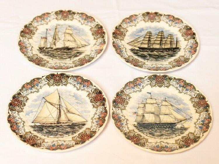 Vintage decorative plate by churchill - currier & ives