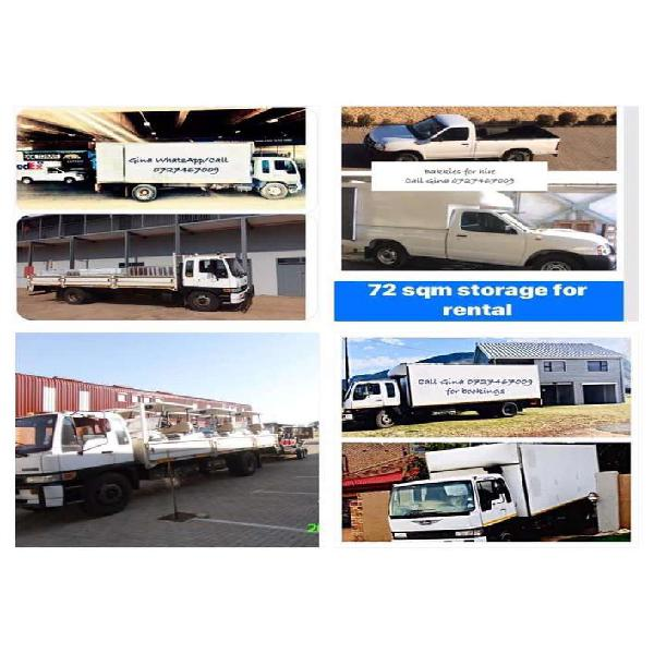 8 ton trucks and bakkies for hire