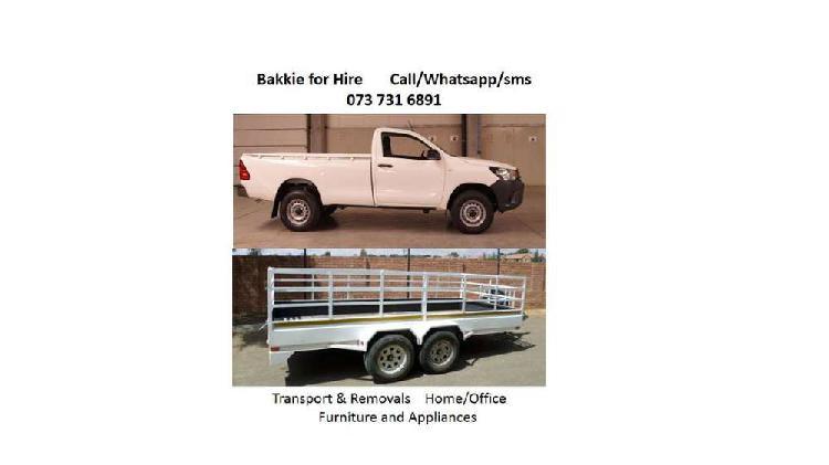 Bakkie for hire: transport services