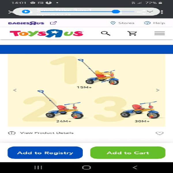 Excelent quality 3 in 1 tricycle for sale