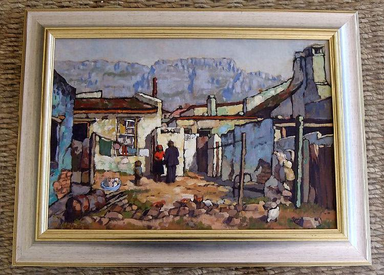 Investment !! an original oil on board by deceased sa artist