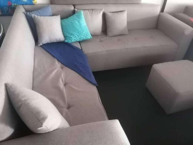 New oxford l-shaped couch free ottoman