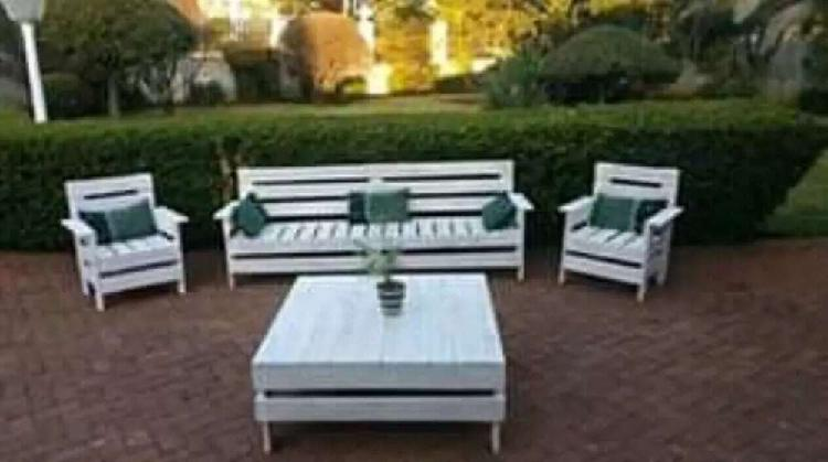 Patio furniture.. wooden benches.. outdoor furniture..