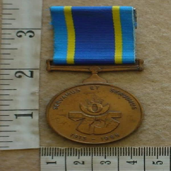 South african police 75th anniversary medal named to 410825m