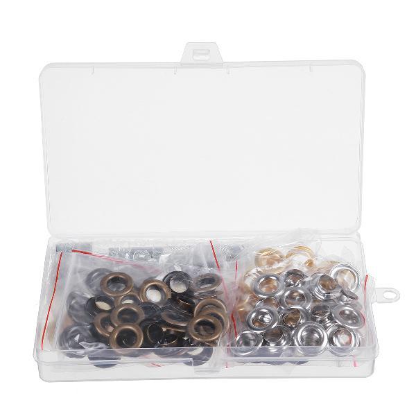 100pcs 10mm diy eyelet grommets brass tool kit leather craft