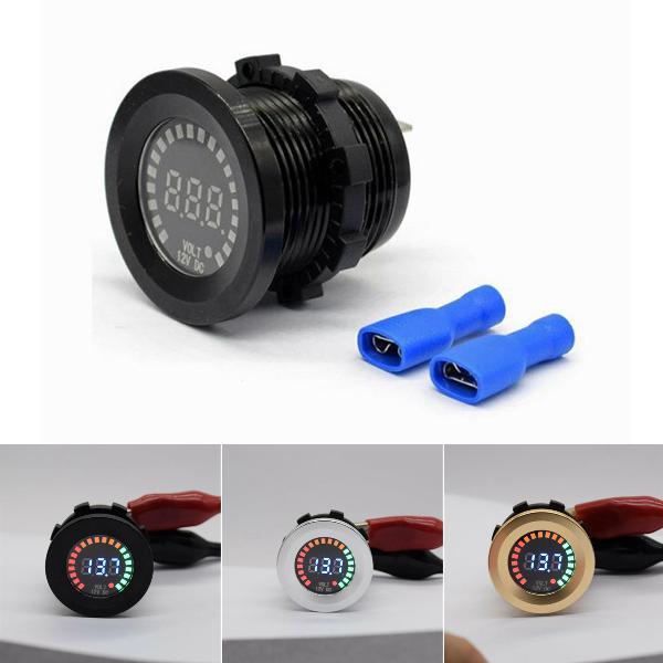 12v dc led panel voltmeter car motorcycle waterproof digital