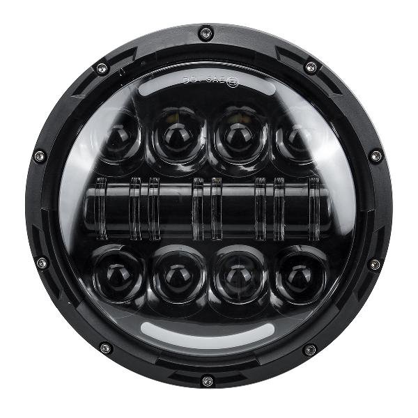 2pcs 7 round led projection headlights head lamp hi/low beam