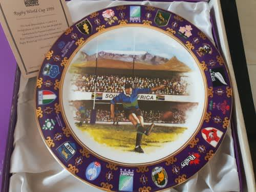 Limited edition royal doulton 1995 rugby world cup plate in