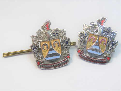 Set of old milnerton municipality collar badges -