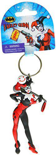 Dc comics harley quinn pvc soft touch figural key ring