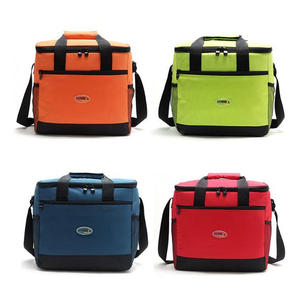Insulated cooler handbag waterproof outdoor picnic lunch bag