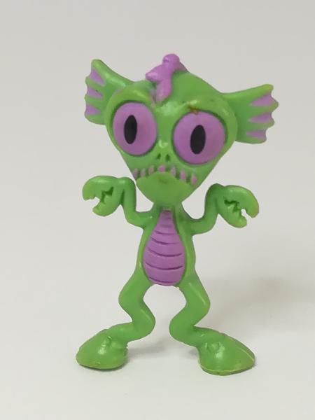 Miniature green & purple alien (for printers tray/dollhouse)