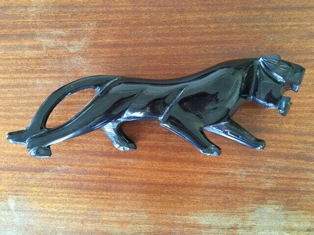 Stone jaguar sculpture - decor - ornament