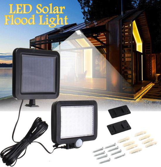 56 led multi functional solar energy flood light kit