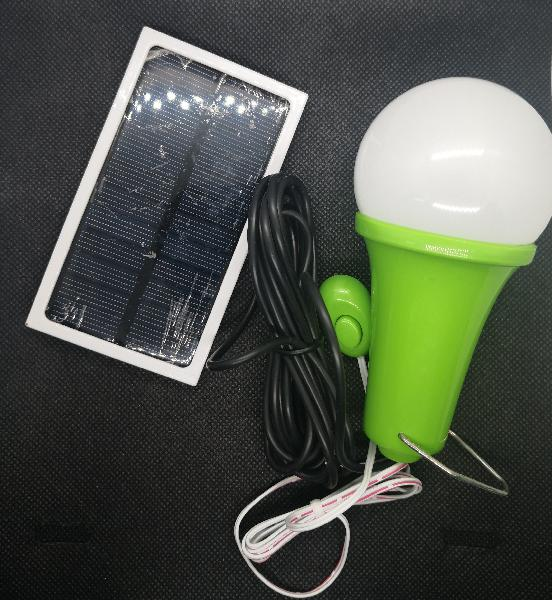 Portable solar panel power led bulb lamp outdoor camp tent