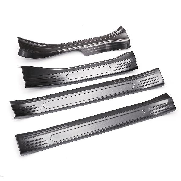 Stainless steel car door edge protector sill scuff guard for