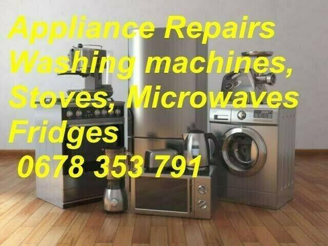 Fridge, washing machine repairs...