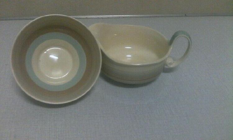 Vintage-a susie cooper milk jug, sugar bowl.