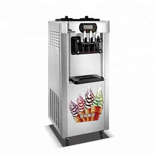 Ice cream machine 3-flavour floor standing