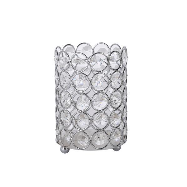 Makeup brush storage crystal jewelry cosmetics holder