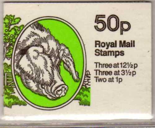 Great britain 1983 rare farm animals 50p booklet no 2
