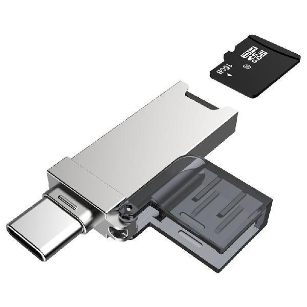 Dm cr006 2-in-1 type-c usb tf card reader for phones tablets