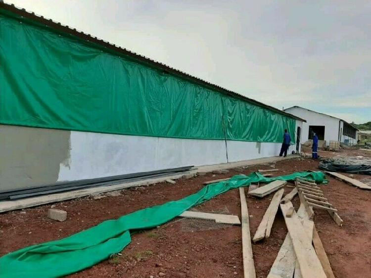 Heavy duty (550gsm) pvc poultry and piggery curtains: call: