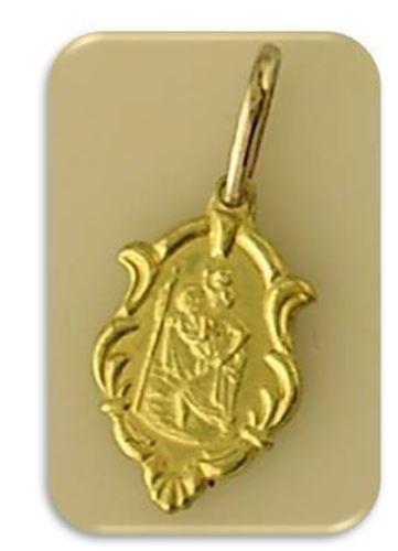 10mm 18kt gold filled st christopher pendant
