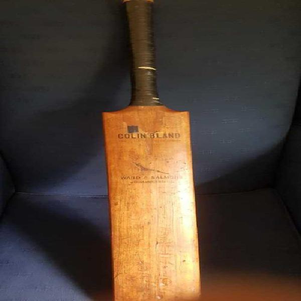 Cricket colin bland vintage cricket bat rare springbok logo