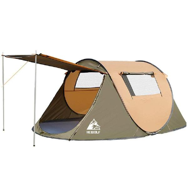 Hewolf 2-3 person 2 second instant tent - camel