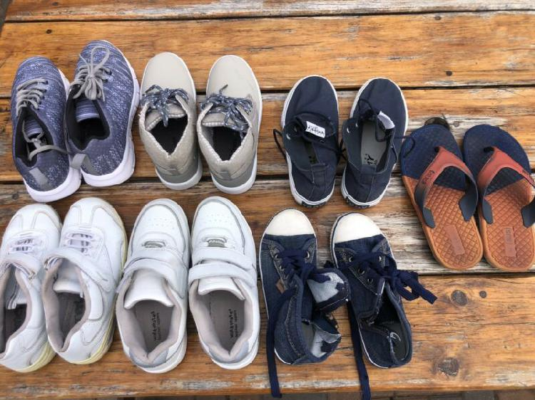 Shoes - boys shoes x 7 pairs - all excellent - some hardly -