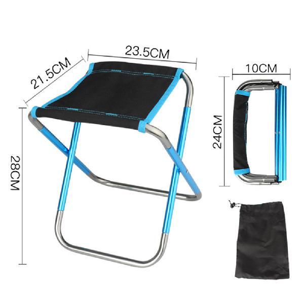 Ultralight folding camping stool portable fishing seat