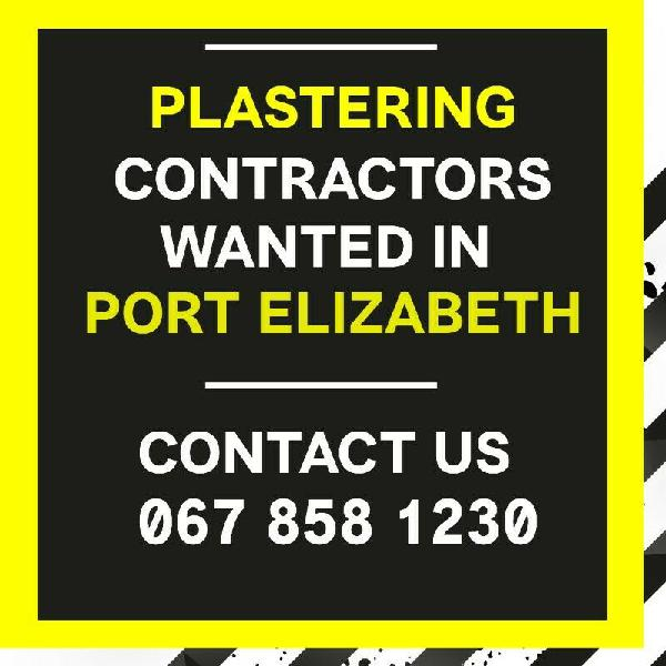 Looking for plastering contractors! contact us today!