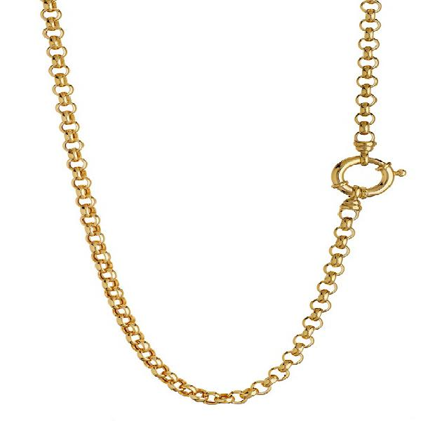 9k / 9ct gold rolo / belcher signoretti chain: 5mm wide,