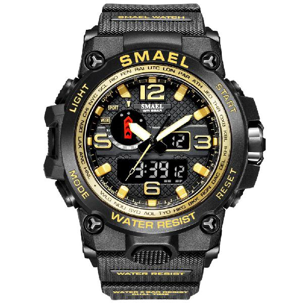 Smael multifunctional sport fashion design watch - gold