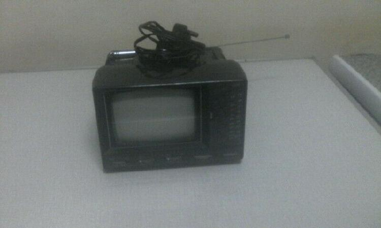 Vintage tedelex black & white tv set.