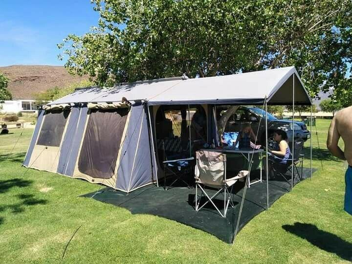 Oztrail canvas cabin tent