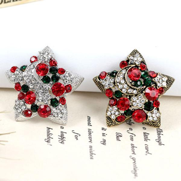 1 pc new year christmas gifts star brooches fashion design