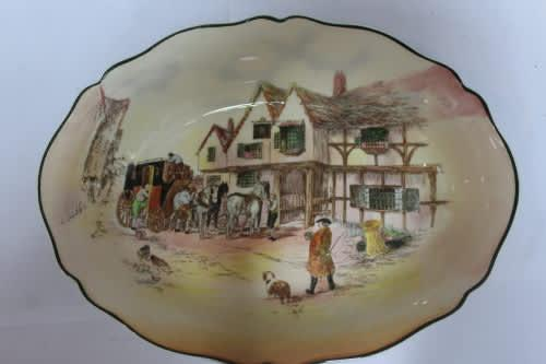 Royal doulton - old english coaching scenes - d6393