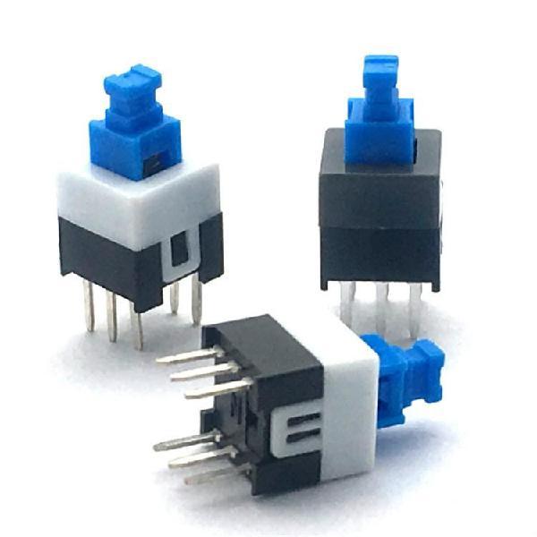 10 pcs blue white black key switch self-locking switch,