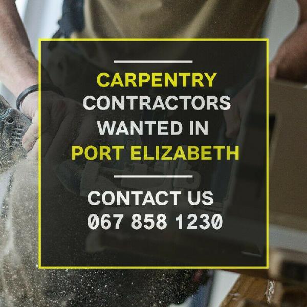 Carpentry contractors   port elizabeth