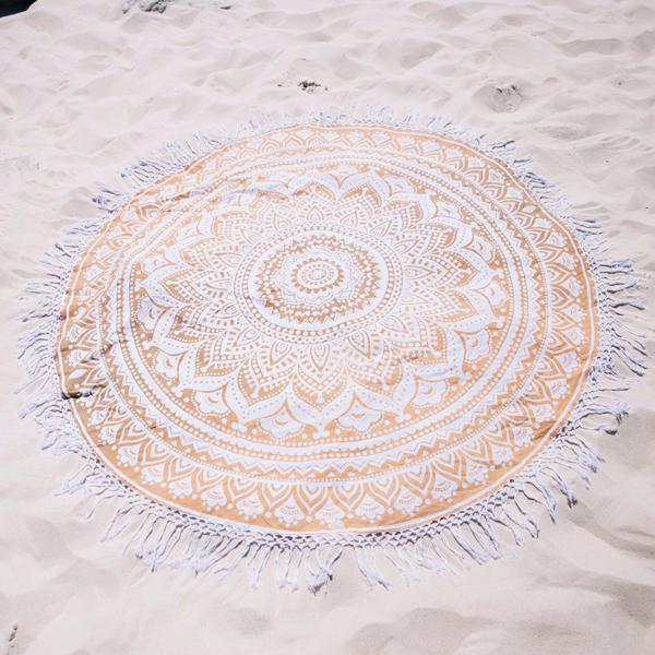 150cm european style thin polyester fiber beach yoga towel
