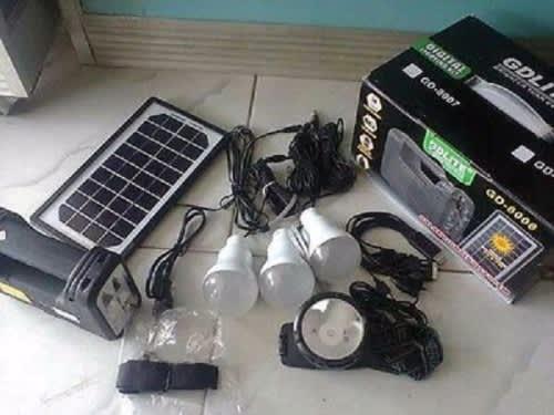 Portable solar led mini lighting kit system with usb port