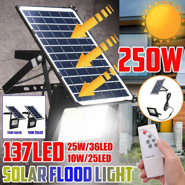 250w solar light led street floodlight garden spotlight