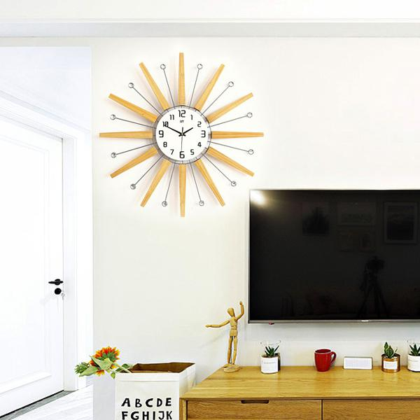 65*65cm clear wide large density board wall clock with 3d