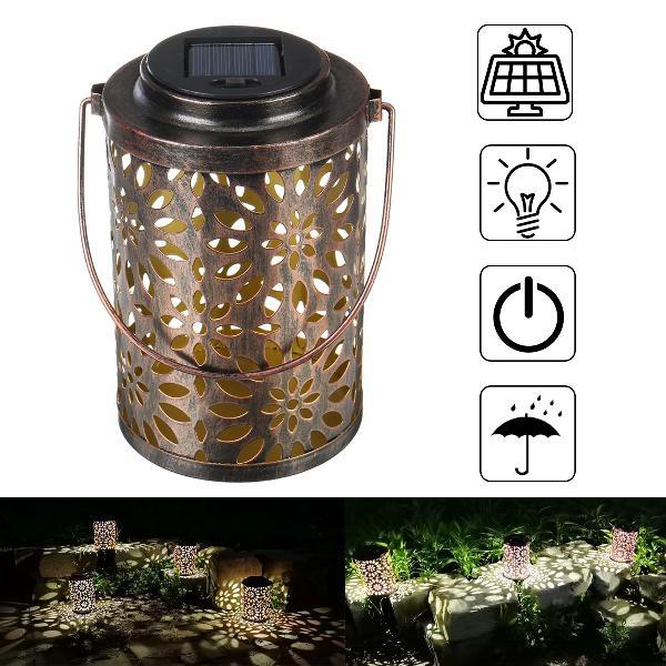 Led outdoor solar powered lantern garden lawn landscape