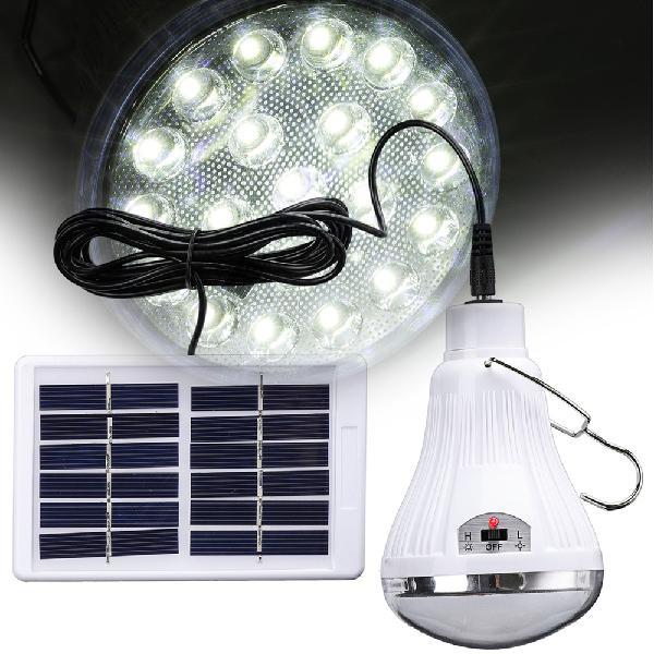 Portable solar power remote control led emergency light tent