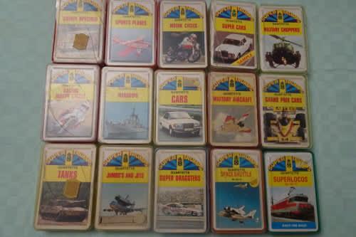 Big collection of 15 super trumps quartette gaming cards